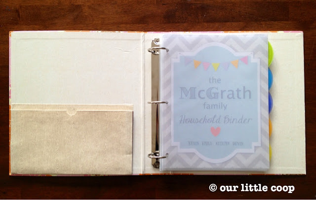 household binder family organizer