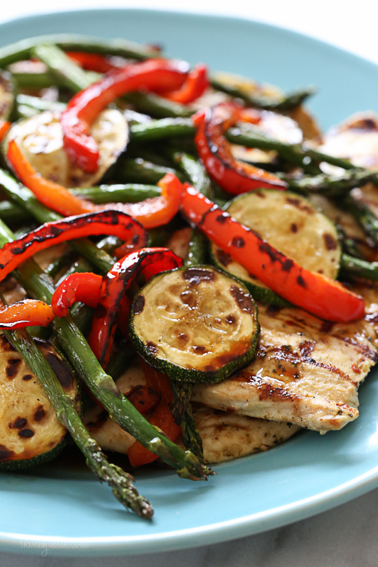 Honey Balsamic Grilled Chicken and Vegetables – Grilled chicken ...