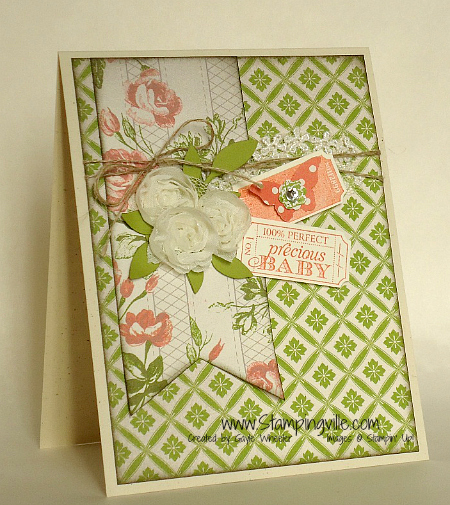 Stampin' Up! That's the Ticket Baby Card Idea