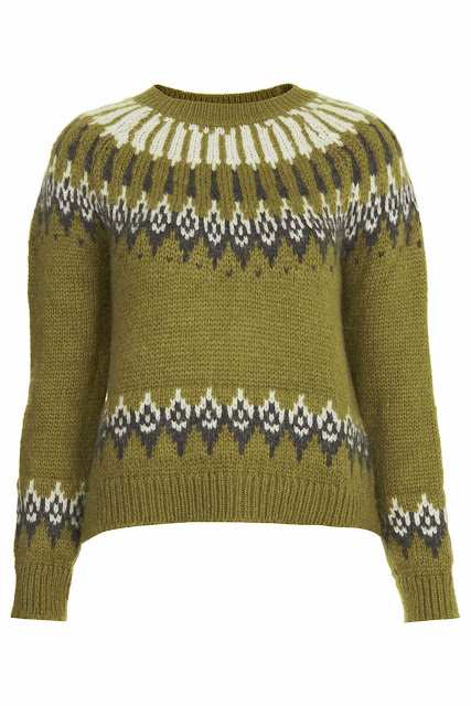 green fairisle jumper