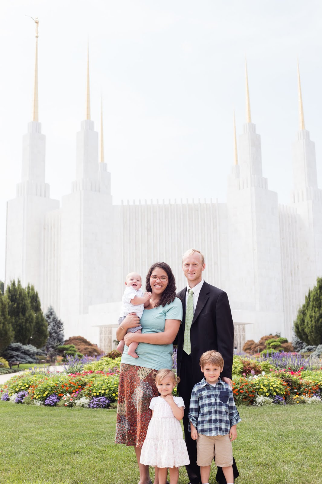 My dear family in front of the Washington DC Temple