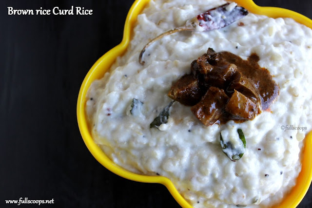 Brown Rice Curd Rice