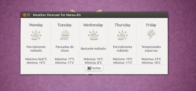 Previsão do Tempo Ubuntu