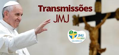 Divulgada a programação da transmissão pela TV dos vários momentos da JMJ Rio2013