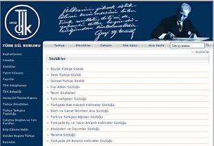 Türk Dil Kurumu Resmi İnternet Sitesi [Görselin üstüne tıklayınız.]