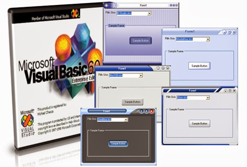 Free Download 7 Skin Visual Basic 6.0