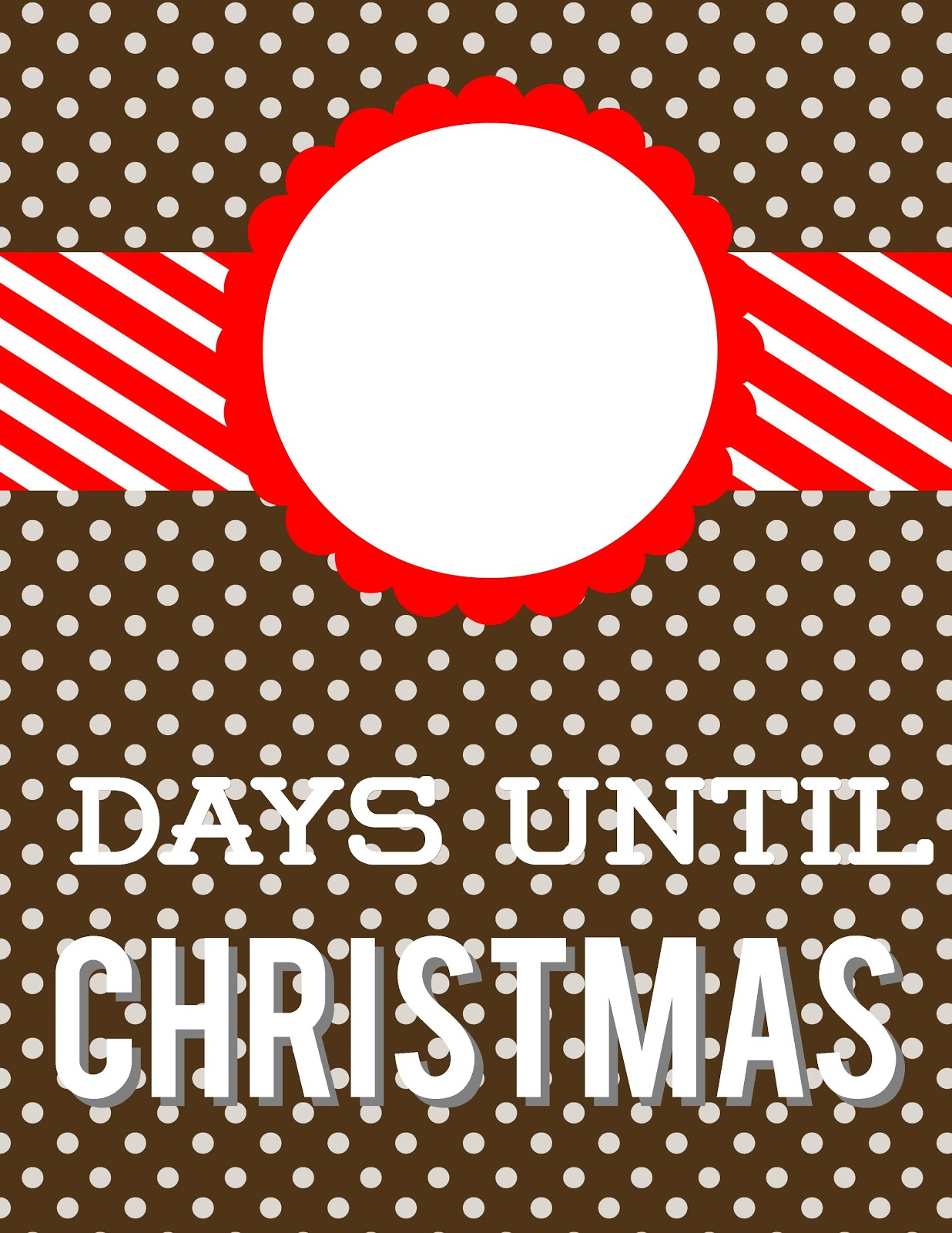 christmas countdown brown polka