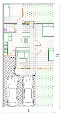 desain minimalis rumah type 64/128