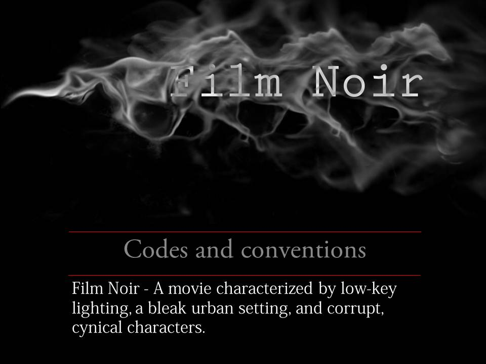 film noir conventions essay The problem of film noir because it is possible to argue that the defining characters of the noir constituted a set of conventions and expectations.