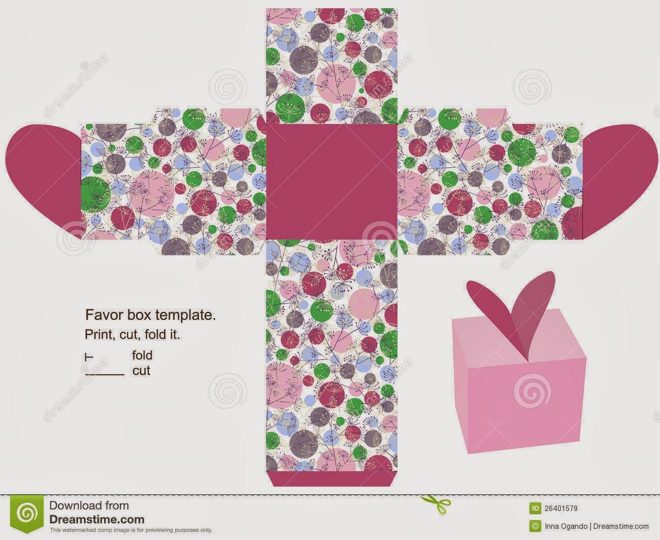 Cajas con forma de Corazón para Imprimir Gratis.   Ideas y material ...