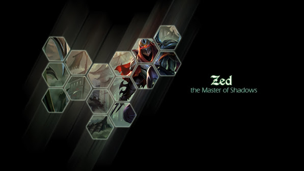 zed league of legends game hd wallpaper
