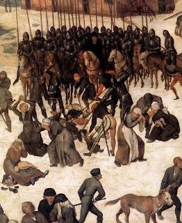 Brueghel el Viejo, Matanza de los inocentes [detalle]