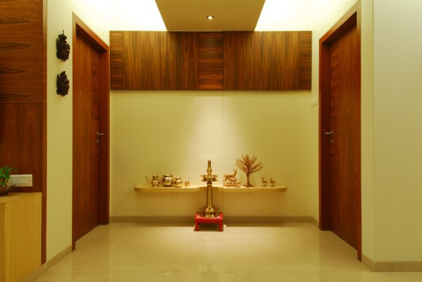Pooja room has to face the east or north east direction.