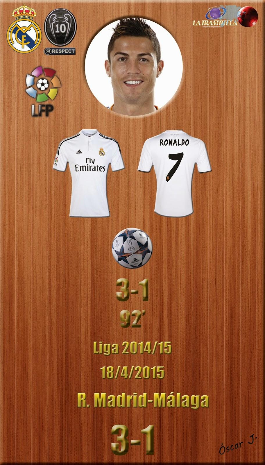 Cristiano Ronaldo (3-1) - Real Madrid 3-1 Málaga - Liga 2014/15 - Jornada 32 - (18/4/2015)