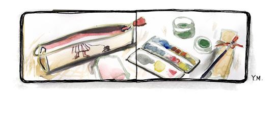 watercolor kit by Yukié Matsushita