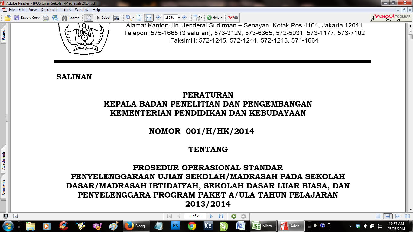 Download POS Ujian Madrasah (POS) SD/MI TA 2013/2014