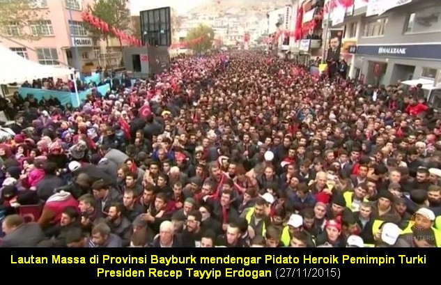 Pidato Erdogan di Kota Bayburk