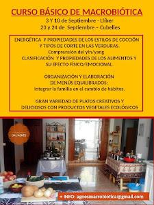 CURSO DE MACROBIÓTICA BÁSICA en Llíber (Alicante) y en Cubelles (Barcelona).