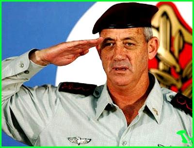 Israel's military chief Lieutenant General Benny Gantz