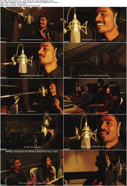 download video why this kolaveri di song