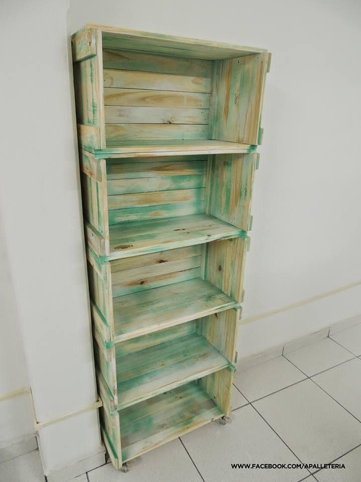 Muebles de palets cajas - Estanterias con cajas de fruta ...