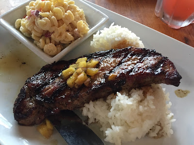 Teriaki Steak and Sticky Rice at Kona Cafe at Polynesian Resort