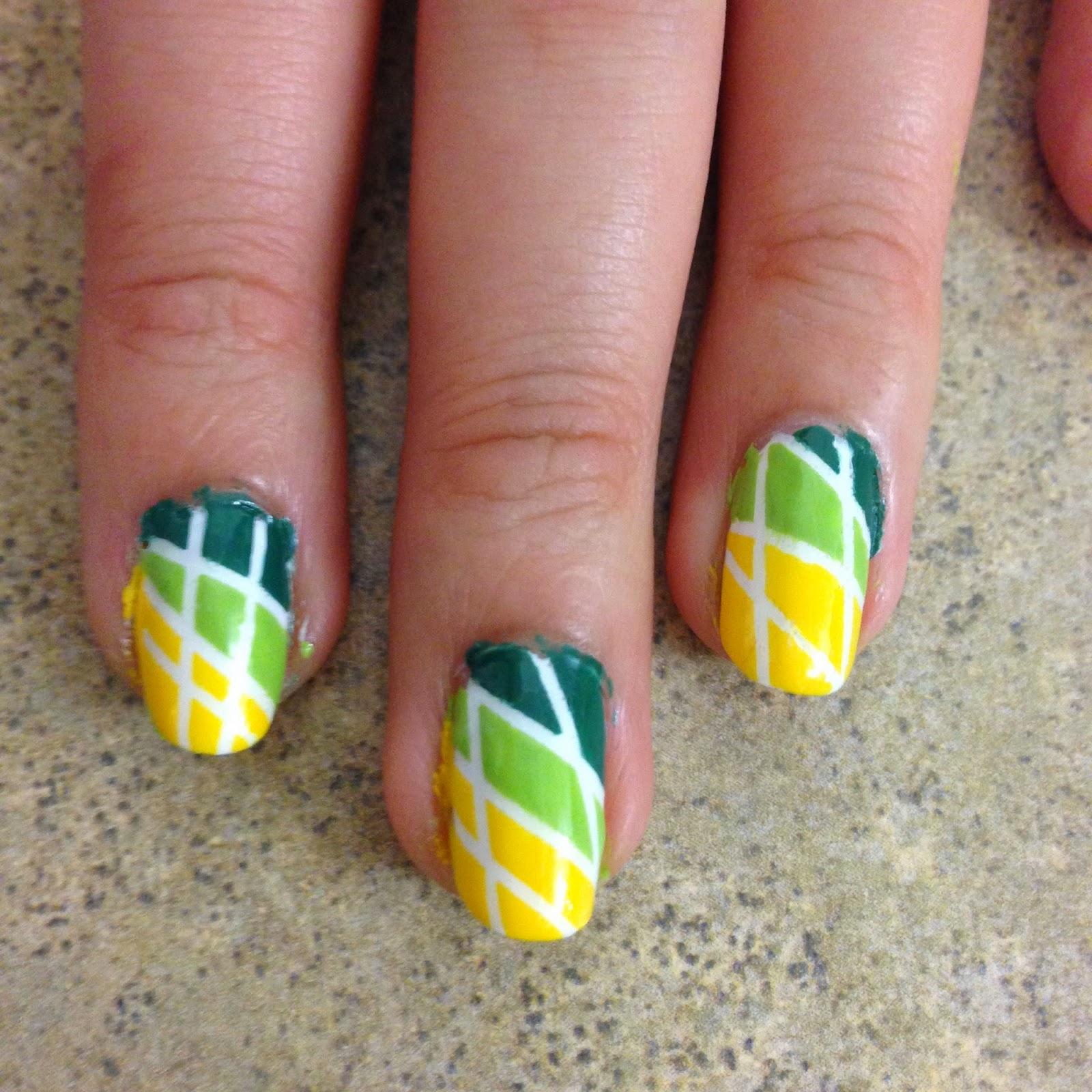 Nails Context: Tutorial - Colorblock Nails