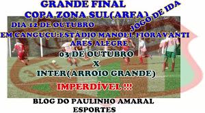 FUTEBOL DE CAMPO DA ARFA/FINAIS