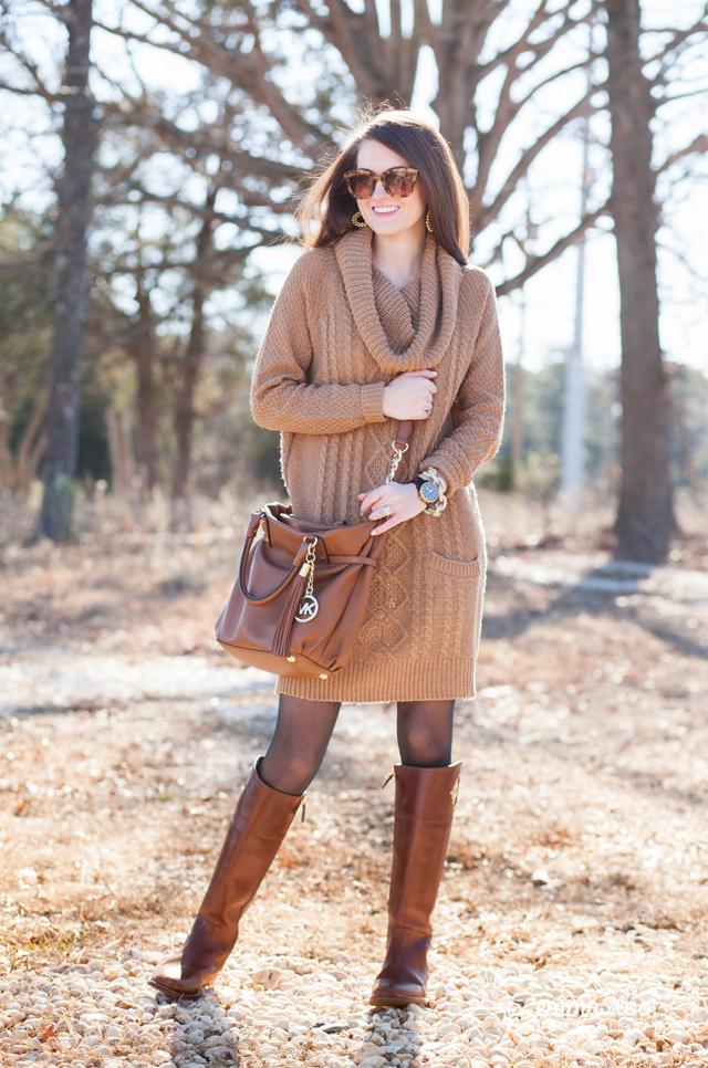 Southern Curls & Pearls: Effortless Sweater Dress + GIVEAWAY
