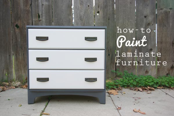 Oleander and Palm How to Paint Laminate Furniture