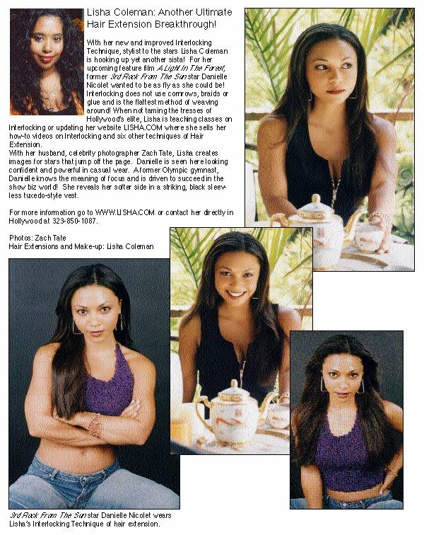 Hair Extensions In Hollywood Actress Danielle Nicolet Hair