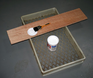 PVA, plastic tray and brush with wood
