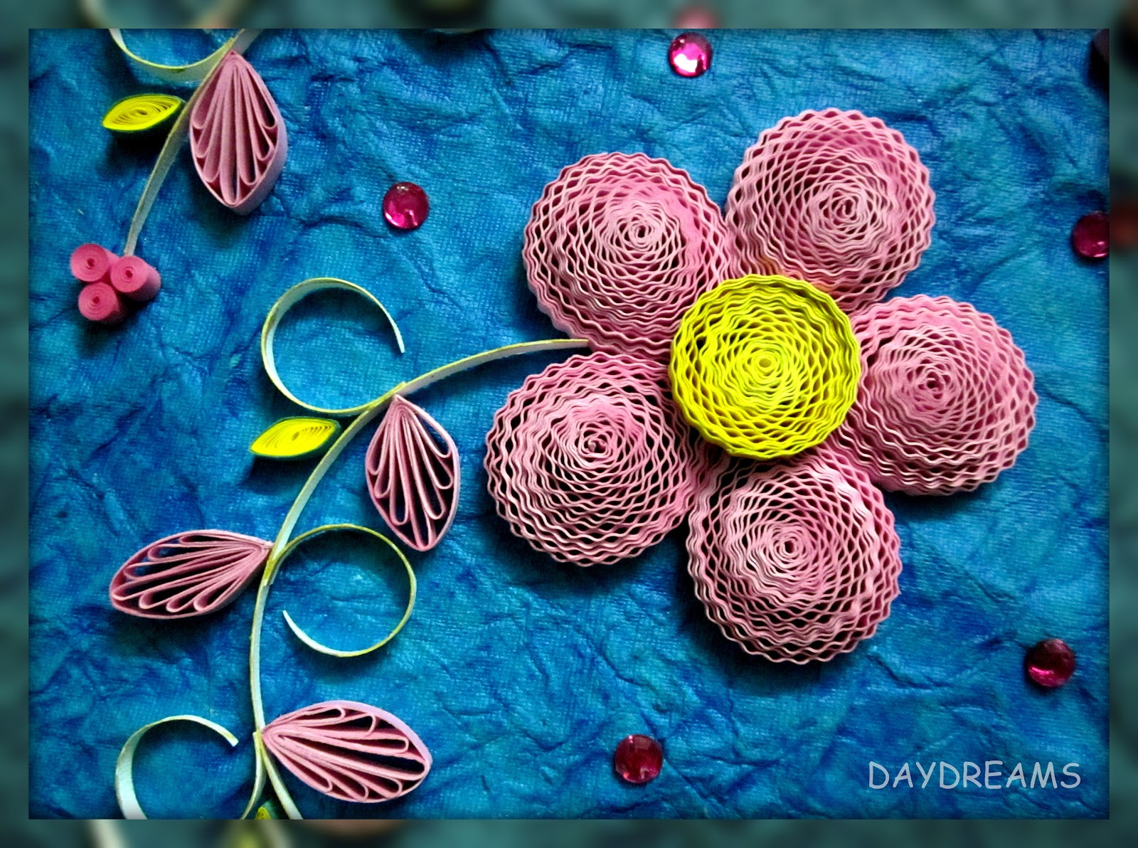 Daydreams march 2012 for Big quilling designs