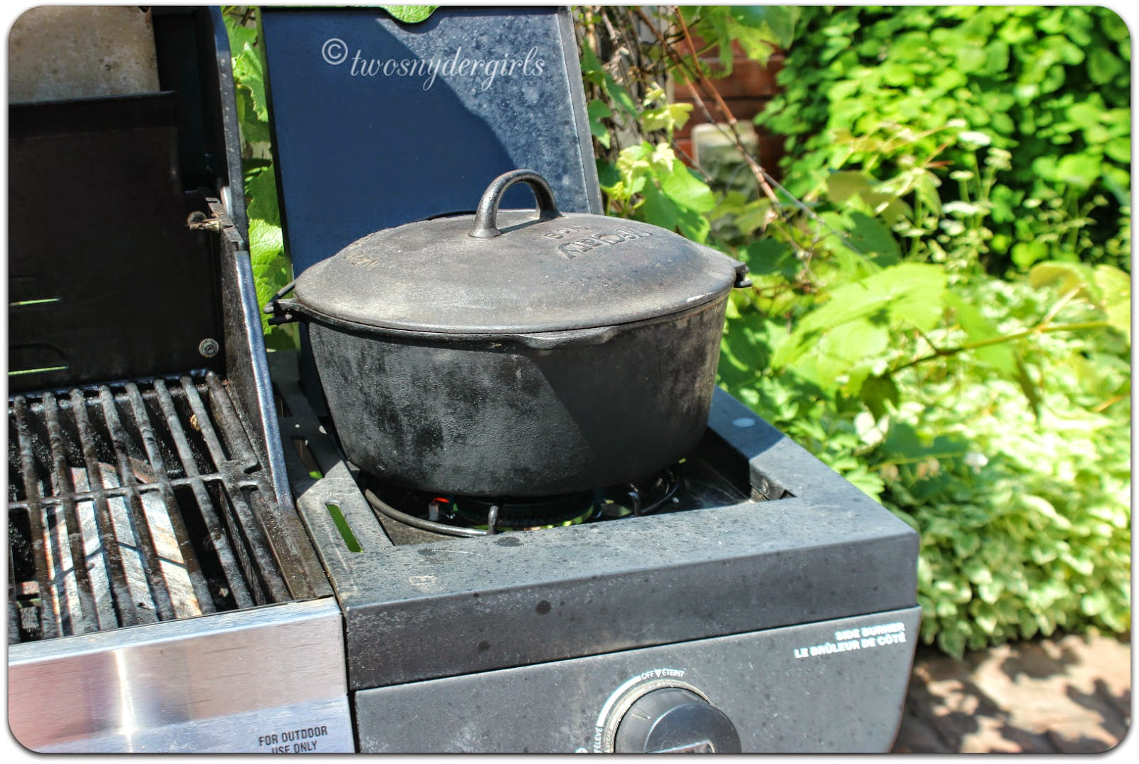 Cast Iron Cook Pot on BBQ
