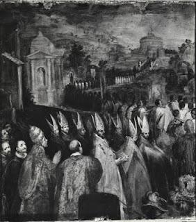 Processione di Papa Gregorio Magno (De Vecchi, 1604, chiesa dell'AraCoeli)