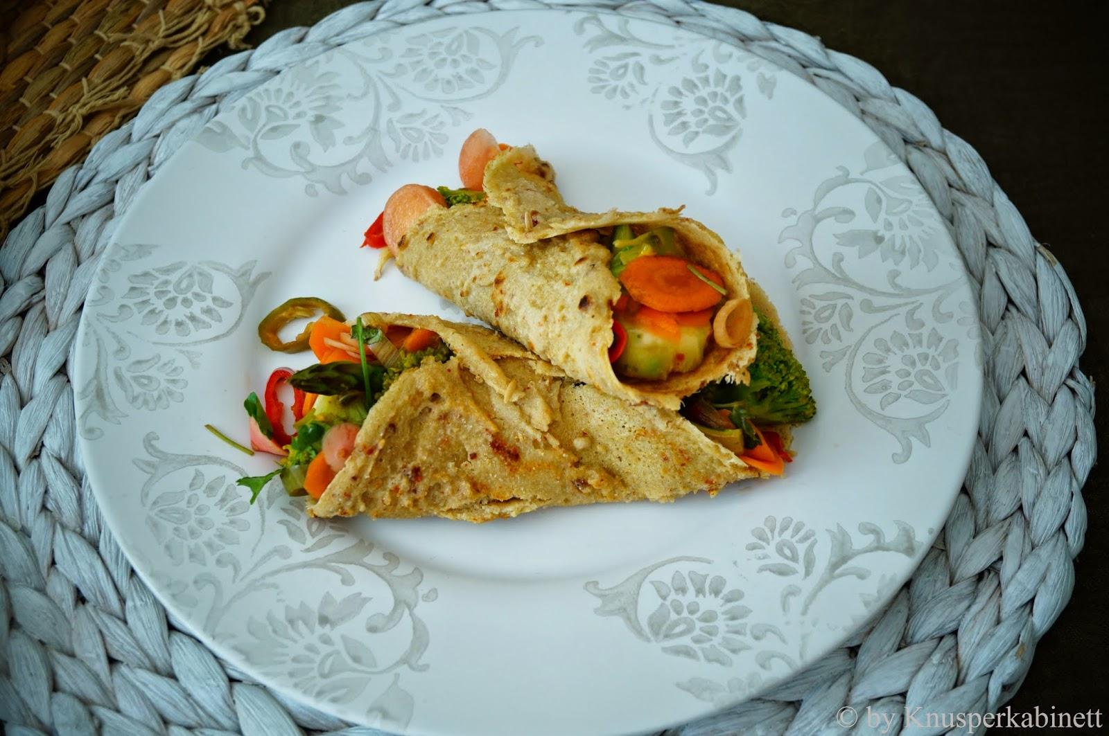knusperkabinett vegane und glutenfreie tortillas aus quinoa mit gr ner gem sef llung und. Black Bedroom Furniture Sets. Home Design Ideas