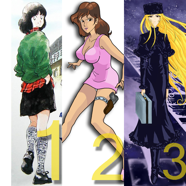 Minami Asakura, Bateadores, Fujiko Mine, Lupin III, Maetel, Galaxy Express 999)