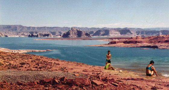 Lago Powell, 1990