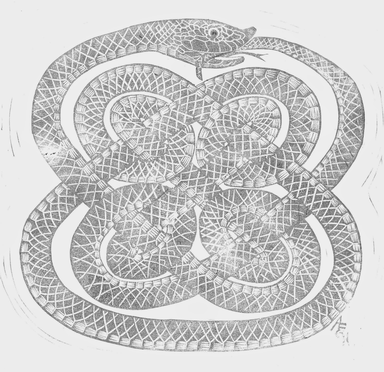 Black and white ouroboros as for the carving of this piece my original design had the body simply patterned with lines for the scales as in this first state rough draft buycottarizona Image collections