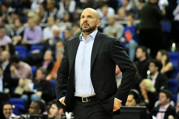Head coach Jason Kidd watches on the sidelines of a recent Brooklyn Nets game