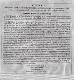 ELECCIONES DE CTERA
