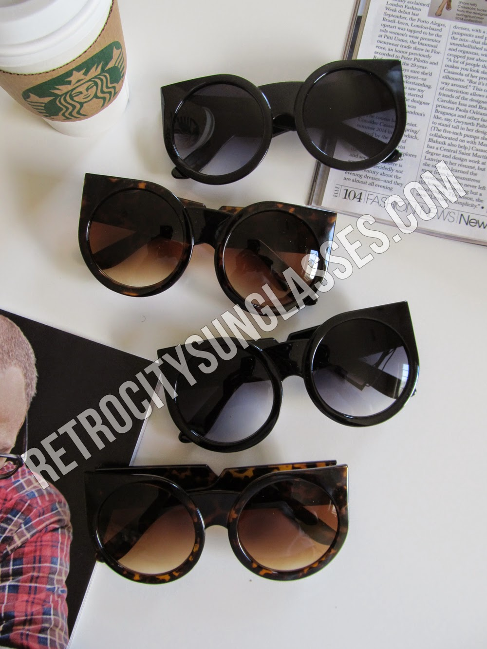 Cheap Designer Style Round Oversized Sunglasses