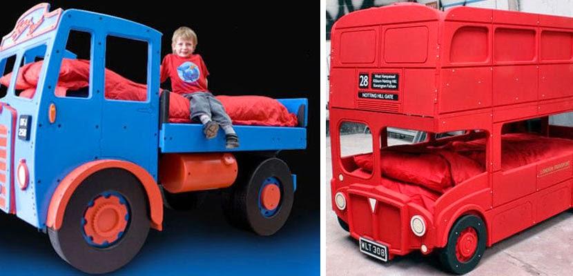 Conseils d co et relooking chambre enfant beaux lits avec designs de voiture - Lit superpose pompier ...