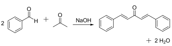 aldol dehydration chemistry using an unknown aldehyde and ketone