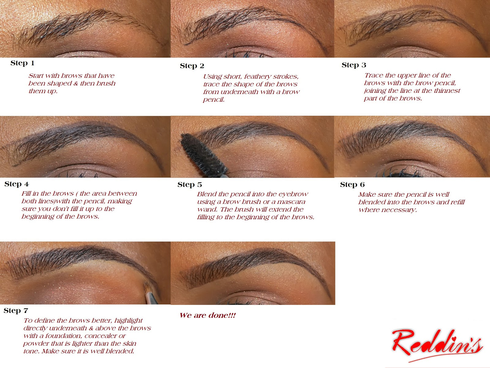 Reddins Beauty Eyebrow 202 How To Pencil Your Brows Perfectly