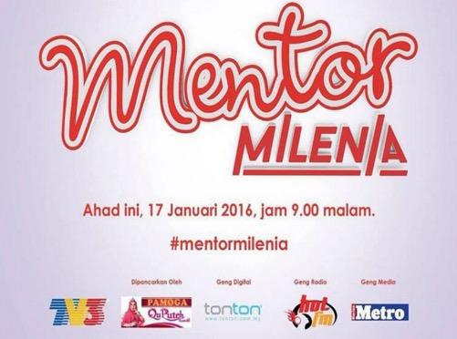 Senarai Penuh Peserta Mentor Milenia 2016 TV3