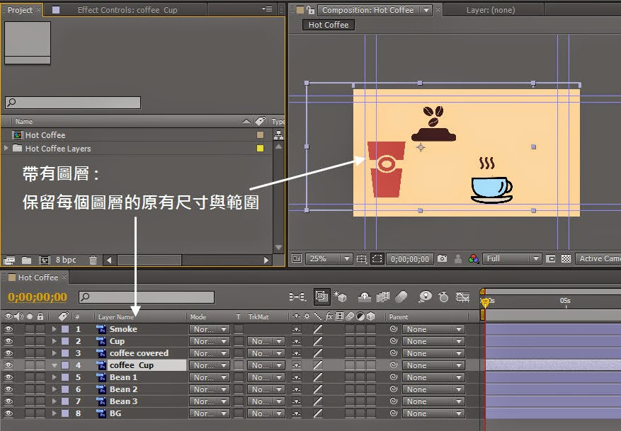 Importing PSD、AI、Sequence and aep Files in AE 10