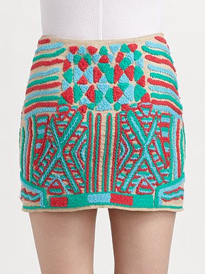Yarn Embroidered Skirt
