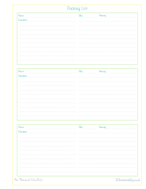 free printable inventory home management binder move