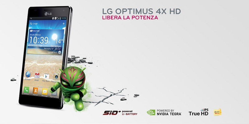 LG Optimus 4X HD Jelly Bean Update